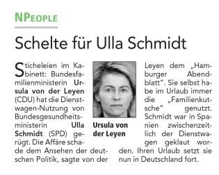 Leyen vs. Schmidt