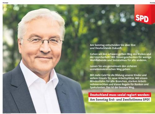 SPD-Anzeige