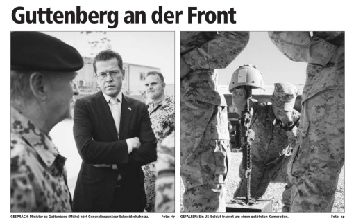 Guttenberg an der Front