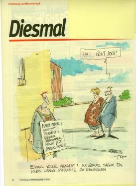 Karikatur zur Hartz IV Diskussion
