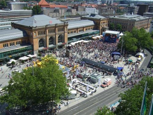 Hauptbahnhof von oben
