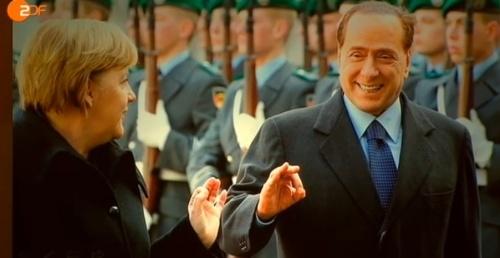 Berlusconi und Merkel