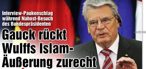 Gauck rückt Wulffs Aussage zurecht
